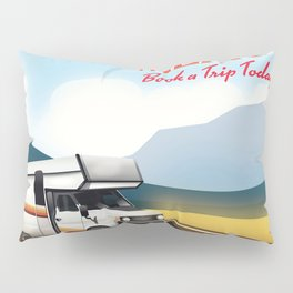 """New Mexico Travel poster. """"Book a trip today"""" Pillow Sham"""