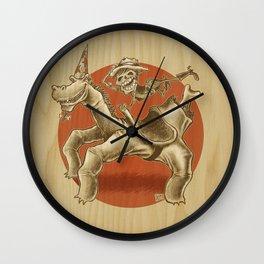 Hand-Horse-Skeleton-Rider Wall Clock