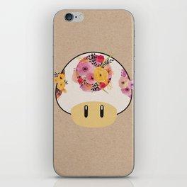 Mushroom in Bloom iPhone Skin