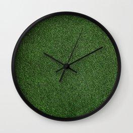 Bright Lush Green Grass Wall Clock