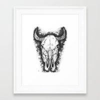 bull Framed Art Prints featuring BULL by Morgan Ralston