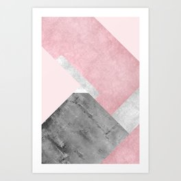 Modern Mountain No1-P1 Art Print