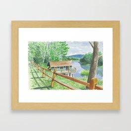 Moose Cabin Framed Art Print