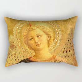 """Fra Angelico (Guido di Pietro) """"Music-making angel, Detail from the Linaioli Tabernacle"""" 7. Rectangular Pillow"""