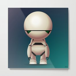 Marvin the Paranoid Android Metal Print