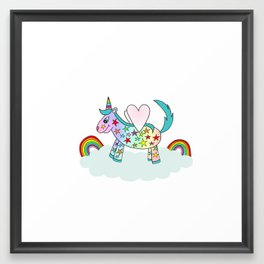 High In The Clouds Framed Art Print
