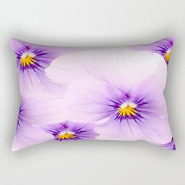 Pansy Flower Bouquet #decor #buyart #society6 Rectangular Pillow