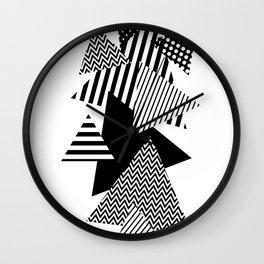 Geometric - Triangles, B&W Party Wall Clock