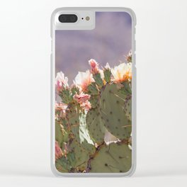 Prickly Pear Blooms I Clear iPhone Case