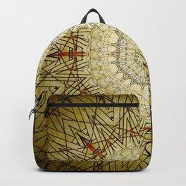 Golden Compass Mandala Backpack