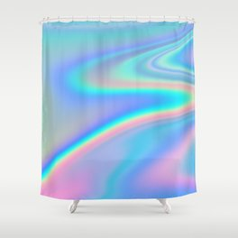 Hologrm River Abstract Art Shower Curtain