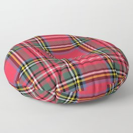 Red & Green Tartan Pattern Floor Pillow