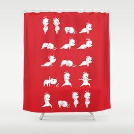 Yoga Bear - Polar Bear Shower Curtain