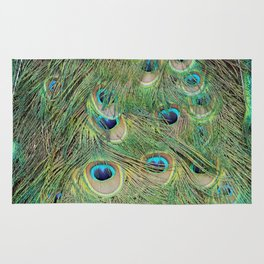Peacock Feathers Rug