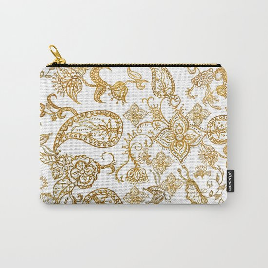India henna pattern Carry-All Pouch