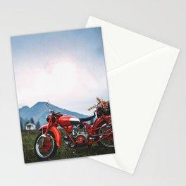 Moto Guzzi indie tribute Stationery Cards