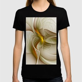 Abstract With Colors Of Precious Metals, Fractal Art T-shirt