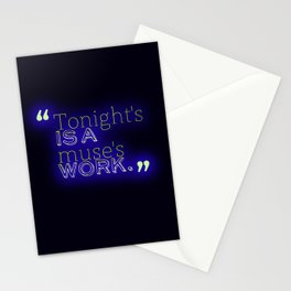Tonight's is a Muse's Work Stationery Cards