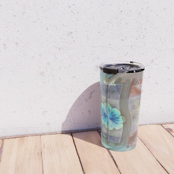 Intercuts Spacing Flowers  ID:16165-035402-83141 Travel Mug