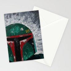 Boba Fett palette knife painting Stationery Cards