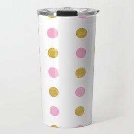 Dalmatian - Pink & Gold Foil #230 Travel Mug