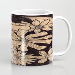 Black Floral Coffee Mug