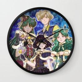 Merry Xmas Outer Senshi Wall Clock