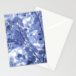 Blue Leaves. Stationery Cards