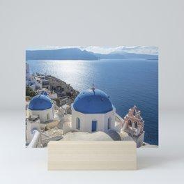 Santorini island in Greece Mini Art Print