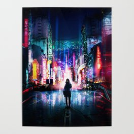 Tokyo Cyberpunk Japan Poster