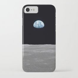 Earth rise over the Moon iPhone Case