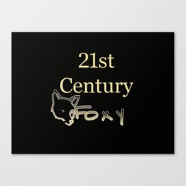 21st Century Foxy Canvas Print