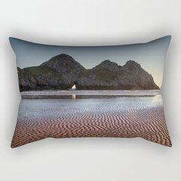 Three Cliffs Bay Gower peninsula Rectangular Pillow