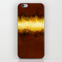 Liquid Gold Sunbeam with Burnished Bronze iPhone Skin