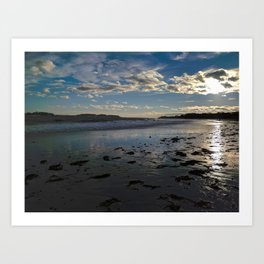 crescent beach reflections Art Print