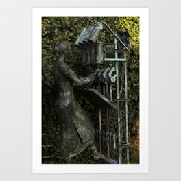 The Flax Spinner Art Print