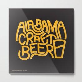 Alabama Craft Beer Metal Print
