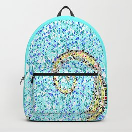 Mediterranean Wave Mosaic Backpack