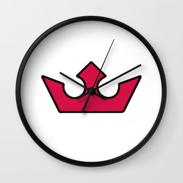 red crown patterns Wall Clock