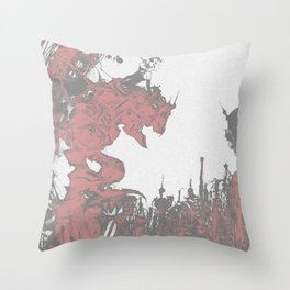 Terra-nigma Throw Pillow