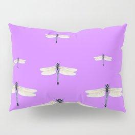 GAUZY WINGED DRAGONFLIES ON LILAC Pillow Sham