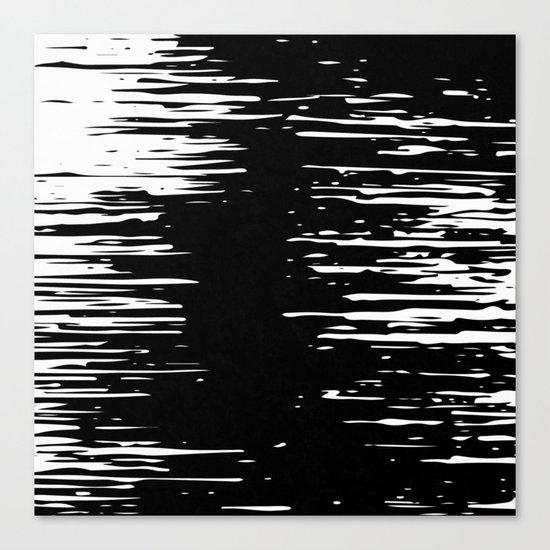 Splash White on Black Canvas Print