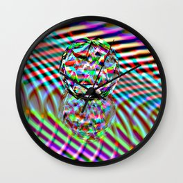 The second Colour of facets Wall Clock