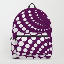 white and purple Backpack