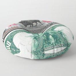 1901 U.S. Federal Reserve $10 Dollar Legal Tender Bison Bank Note Floor Pillow