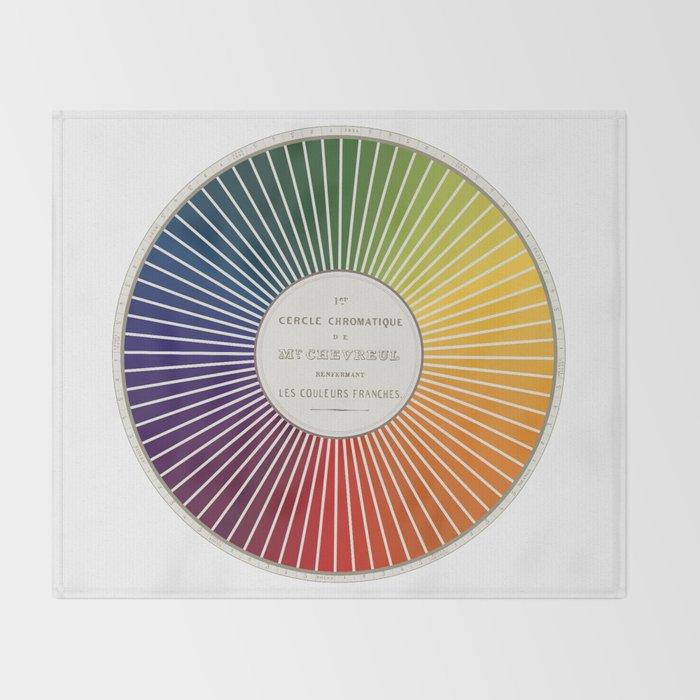 Chevreul Cercle Chromatique 1861 Remake Renewed Version Throw