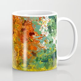 Abstract Expressionist Splashes Drip Painting Texture Coffee Mug