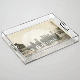 Band of Horses - White Acrylic Tray