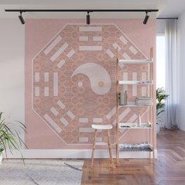 Soft Pink Lace Zen Yin Yang Feng Shui Print Wall Mural