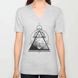 Wicca Air Element Symbol Pagan and Witchcraft Triangle Unisex V-Neck